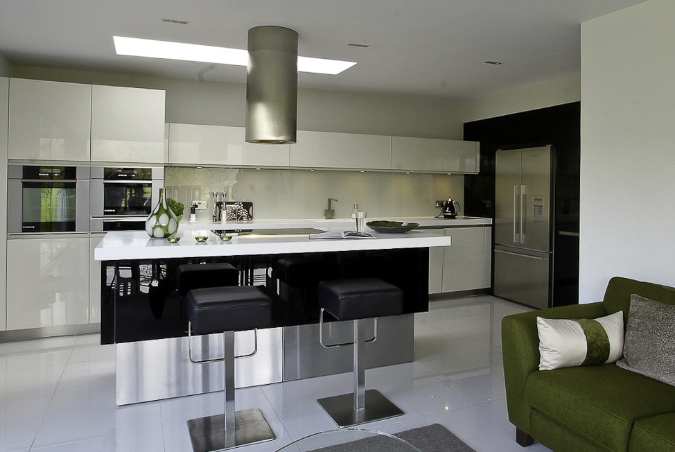 Atmos Rational black glass kitchen
